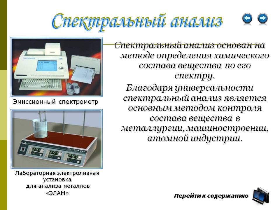 Спектральный анализ: виды спектрального анализа