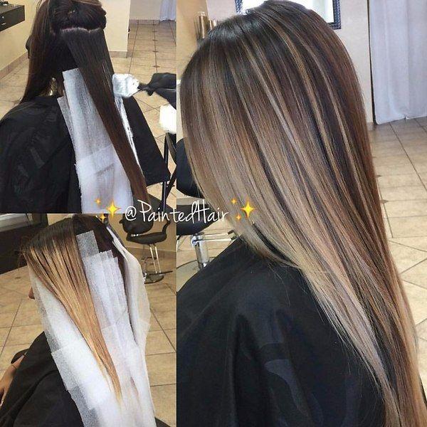 Как сделать балаяж на темные волосы: фото, описание