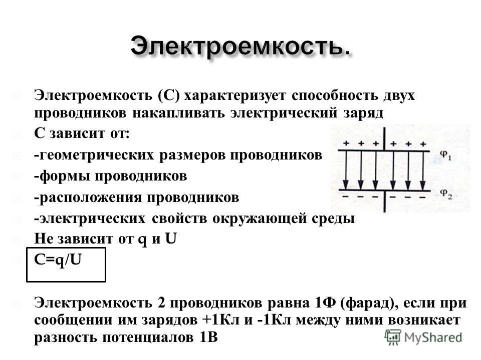 Определение энергоемкости плоских конденсаторов: от чего зависит энергоемкость