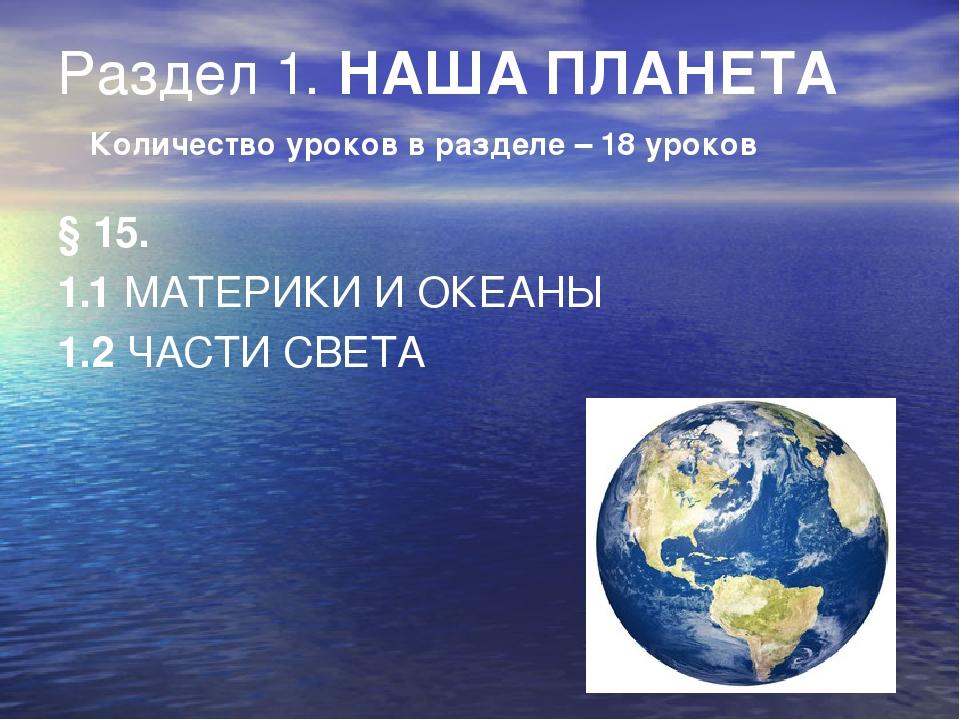 Океаны и материки: названия, расположение на карте