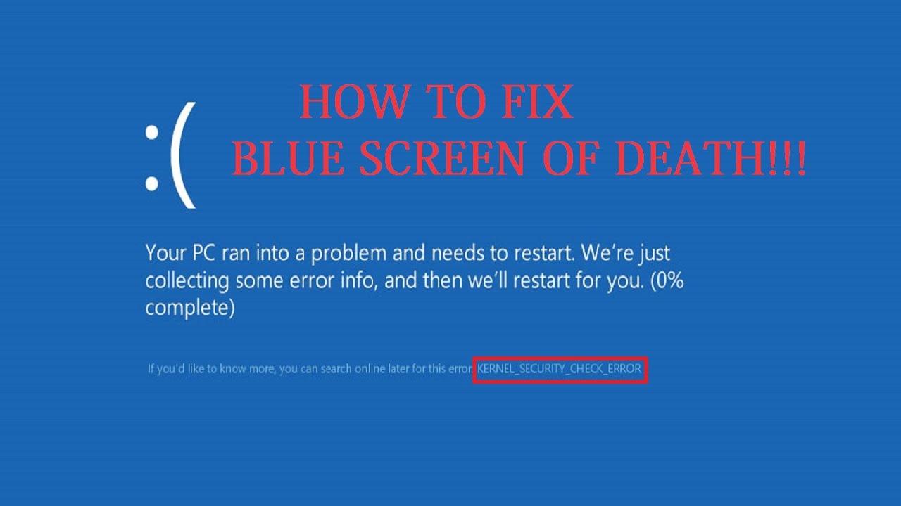 Kernel_security_check_failure: критическая ошибка в windows 10/8.1   виртуализация и облачные решения