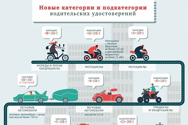 """Категории водительского удостоверения """"в"""" и """"в1"""": что значат, чем отличаются, на чем можно ездить?"""