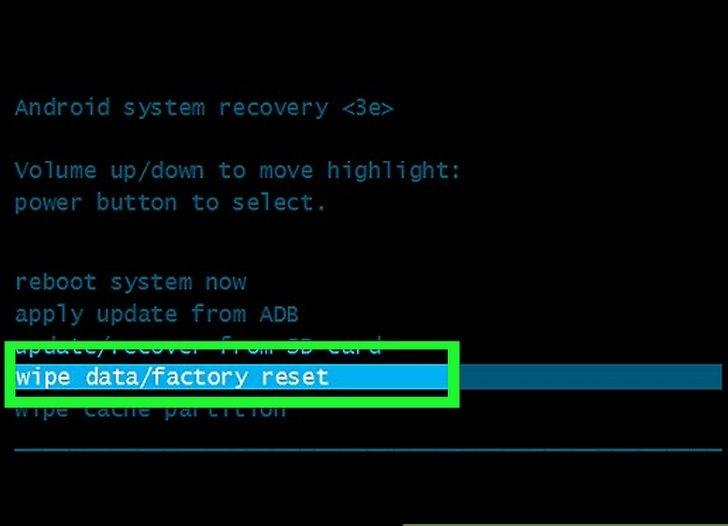 Wipe data factory reset выдает ошибку. wipe data factory reset: что это такое и как правильно сбросить настройки на android. это полный бред и чушь