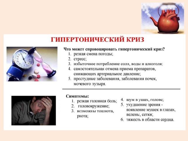 Гипертонический криз: что это такое, симптомы, первая неотложная помощь, лечение