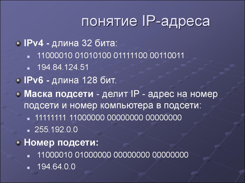 Что такое ip адрес и как он выглядит