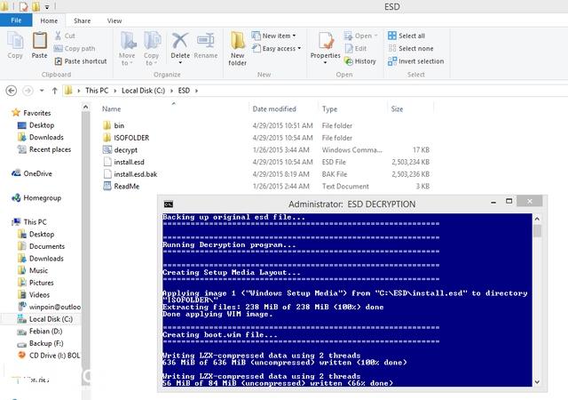 Как конвертировать файл install.esd в install.wim