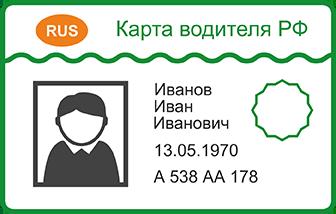 Личная карточка водителя - образец на 2020 год