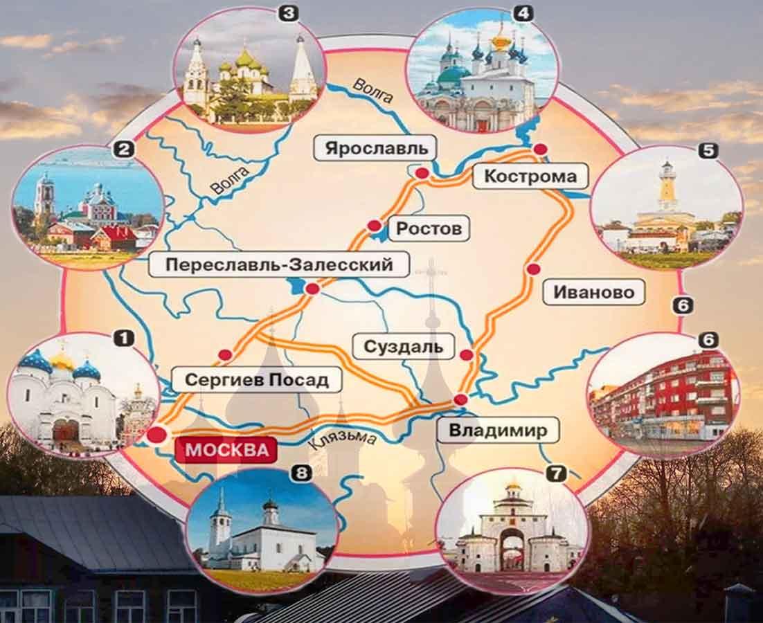 Золотое кольцо — маршут по городам россии