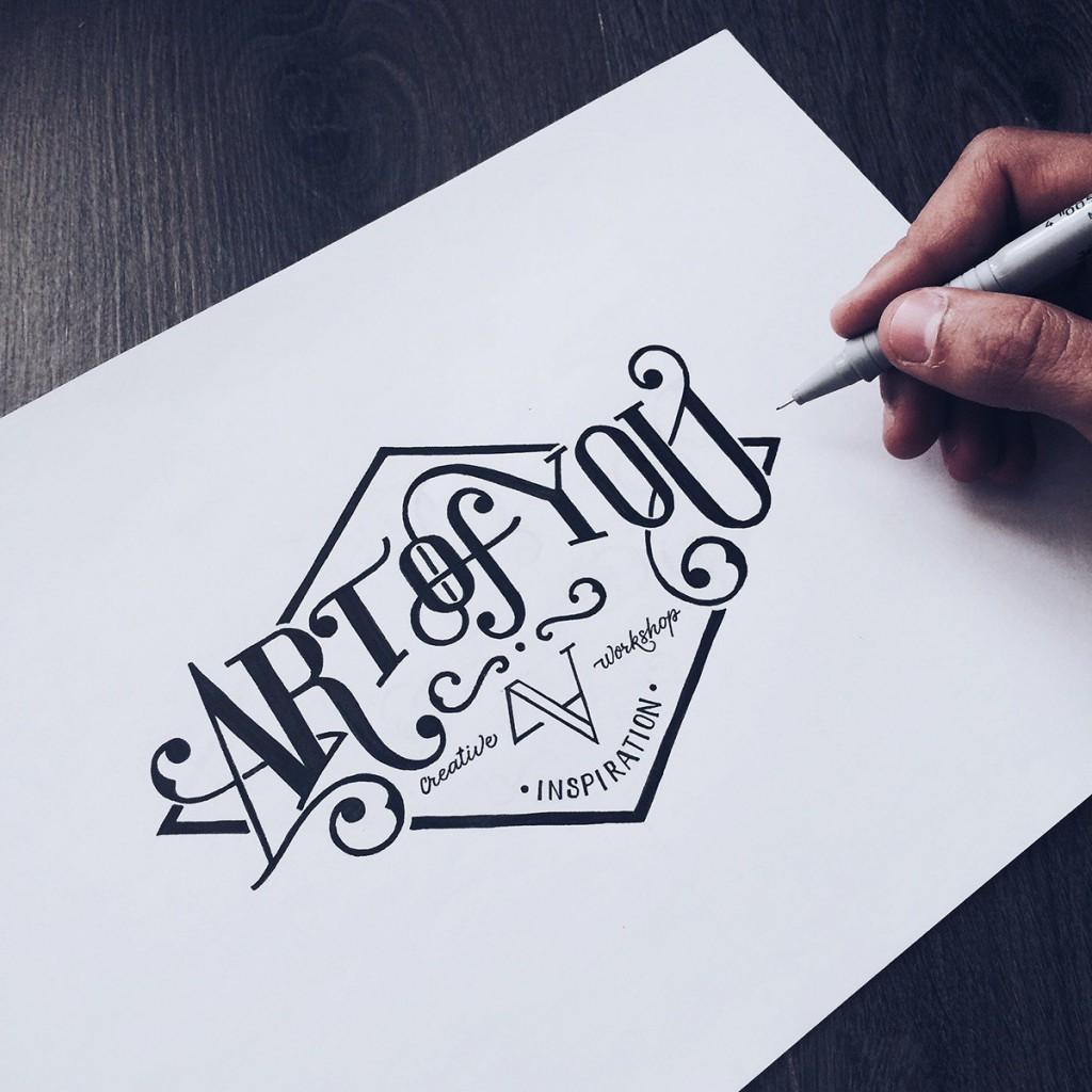 Что такое леттеринг? отличия от каллиграфии и типографики
