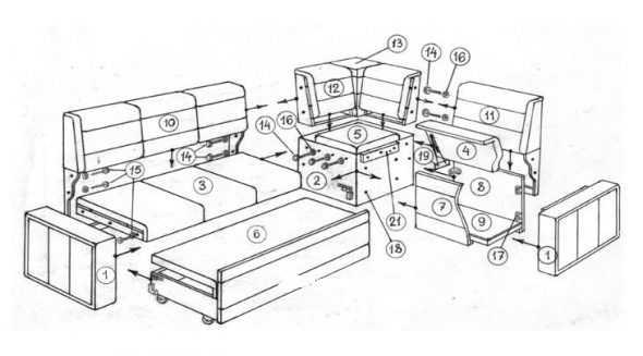 Что такое тахта, софа, кушетка и в чем их отличие от дивана и кровати?   блог мебелион.ру