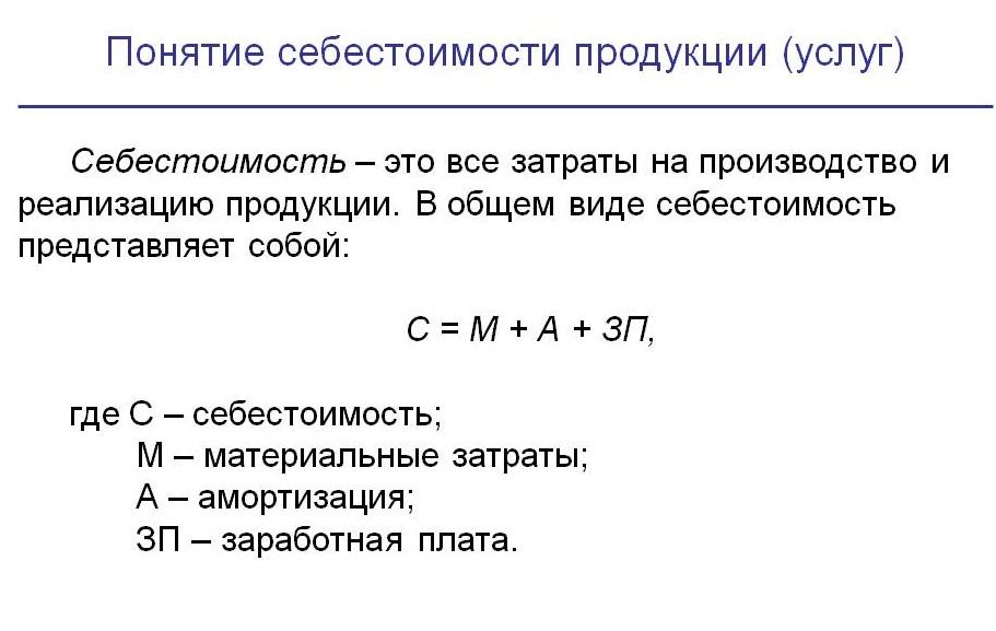 Расчет себестоимости продукции. калькуляция себестоимости продукции. формула расчета. цена продукции