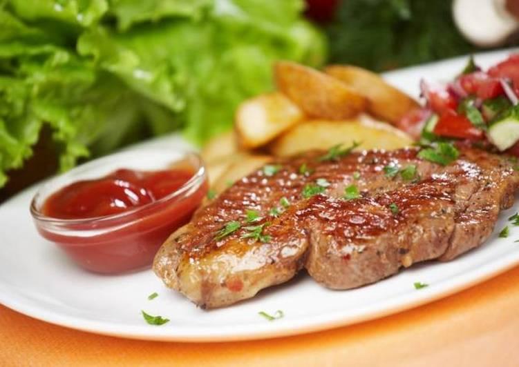 Антрекот - как правильно замариновать и готовить на гриле, в духовке или на сковороде с фото