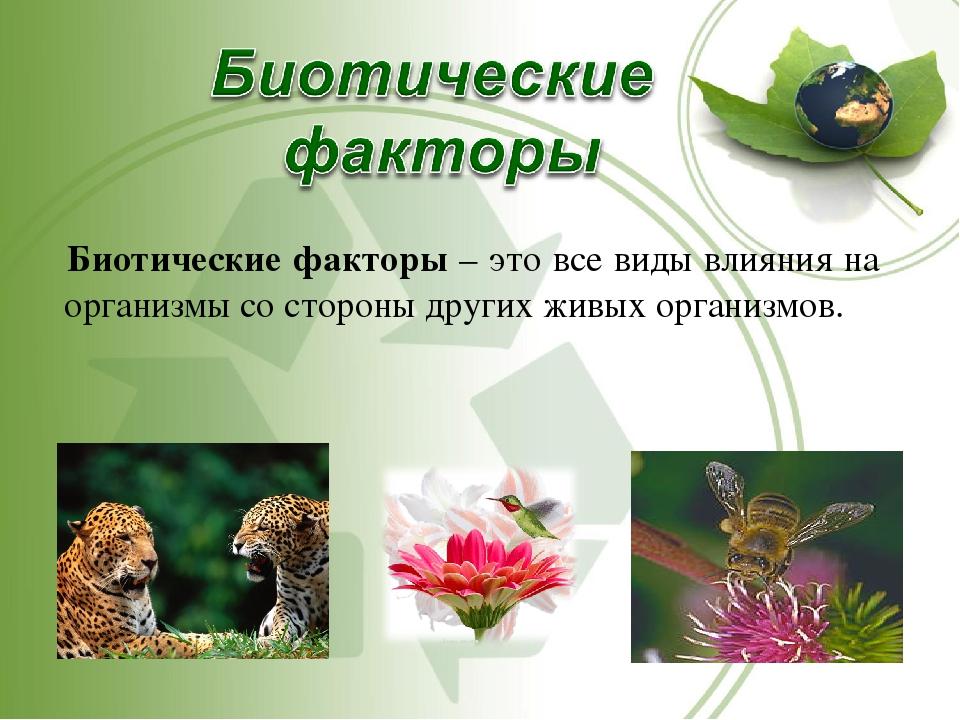 23.биотические факторы среды