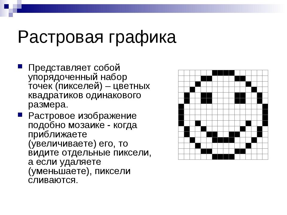 Урок 22компьютерная графика и области ее применения. понятие растровой и векторной графики