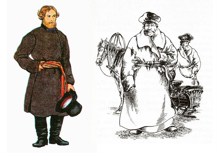 Что такое охабень и другая верхняя одежда на руси