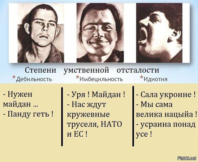 Три стадии олигофрении: дебильность, имбецильность, идиотия