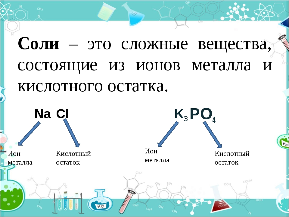 Формула соли - полезные лечебные свойства - частные заметки
