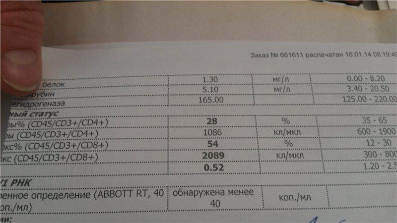 Анализ крови по методу ифа - норма, расшифровка
